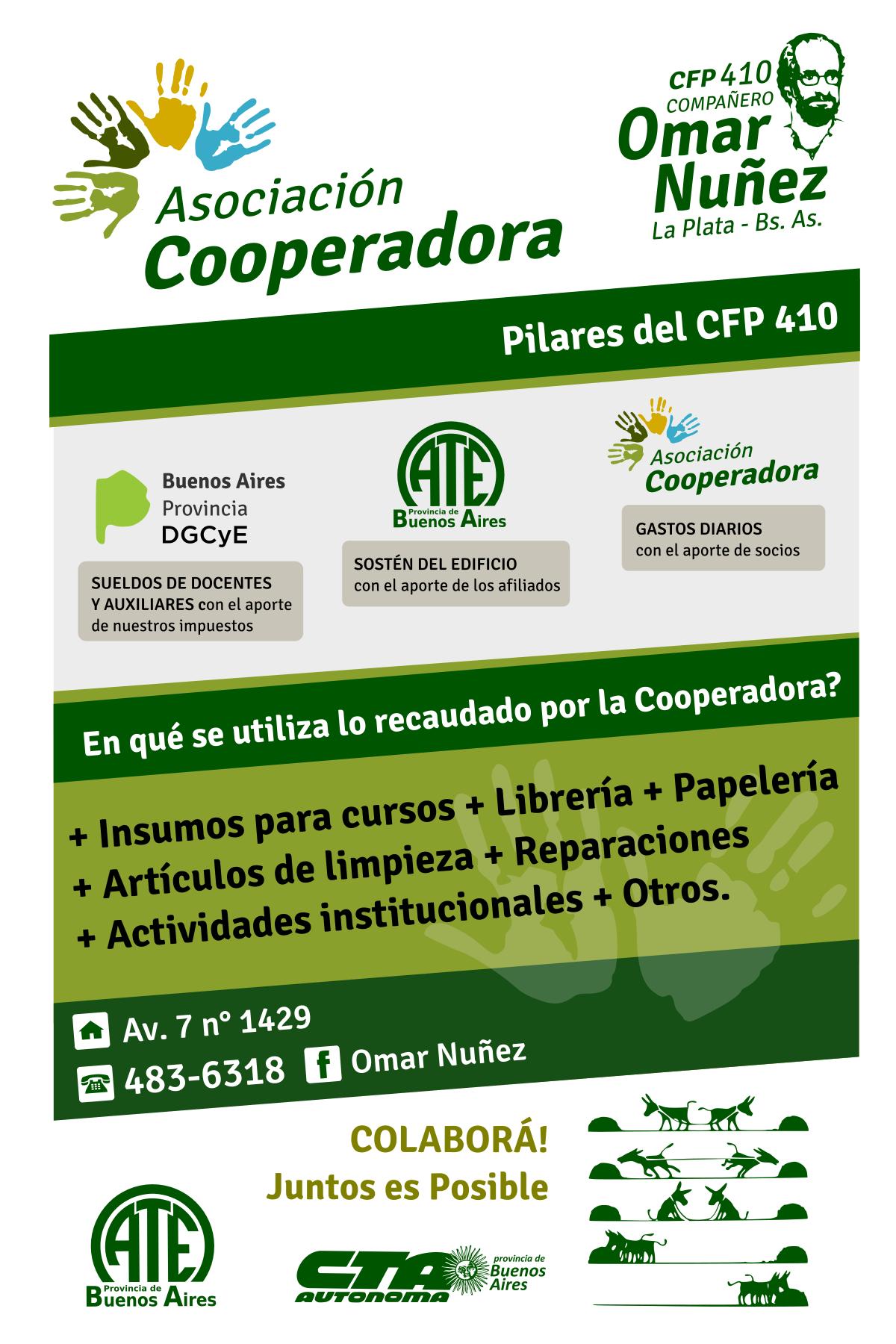 Funcionamiento de la Asociación Cooperadora del CFP 410