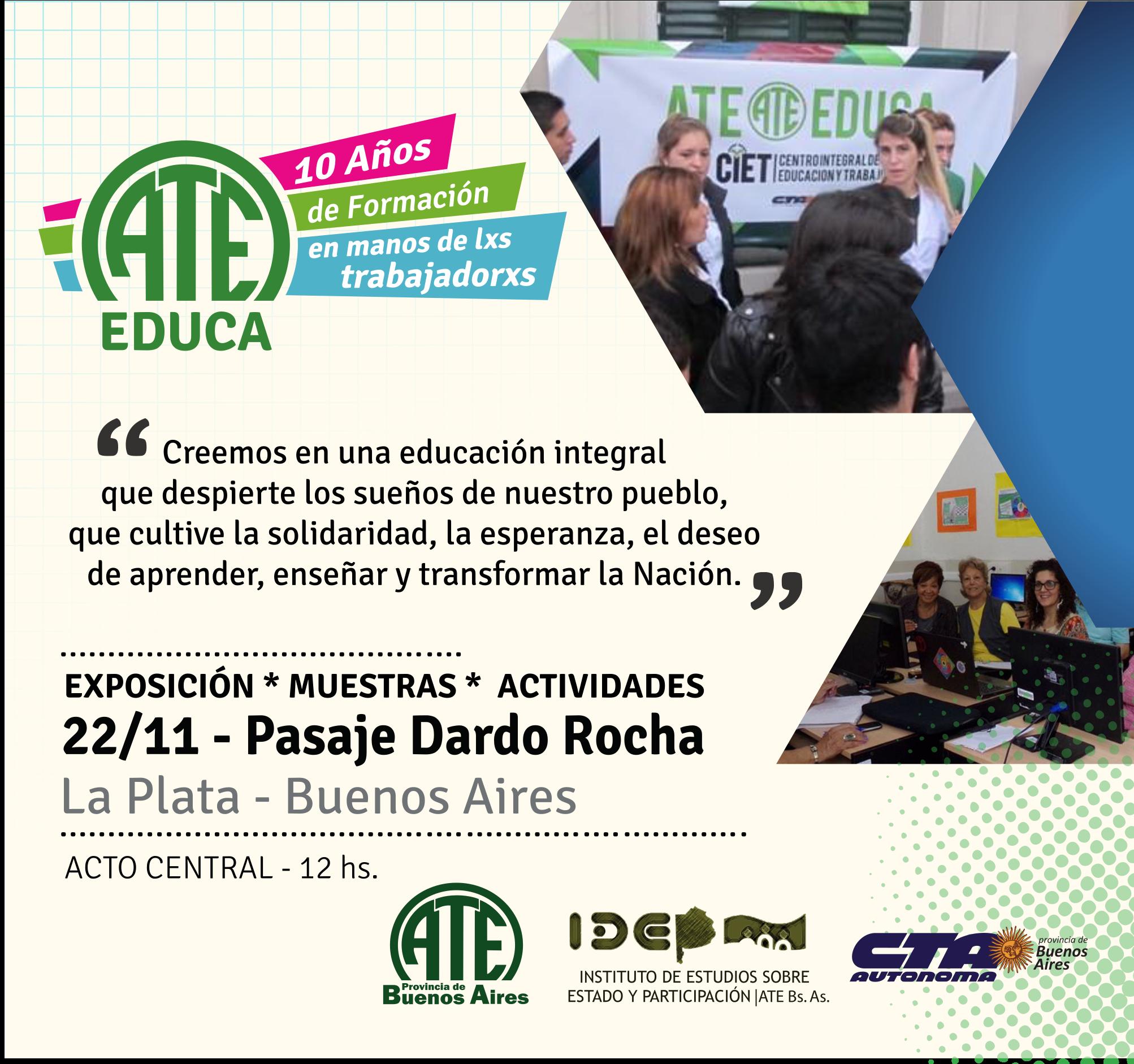 Invitación a ATE EDUCA - 10 Años