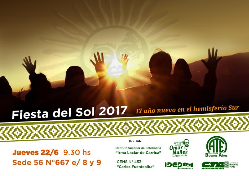 Invitación a la celabración de la Fiesta del Sol 2017